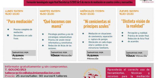 TALLERES PRÁCTICOS ADECUADOS AL REAL DECRETO
